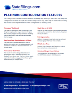 Download > StateFilings.com Platinum Configuration Features
